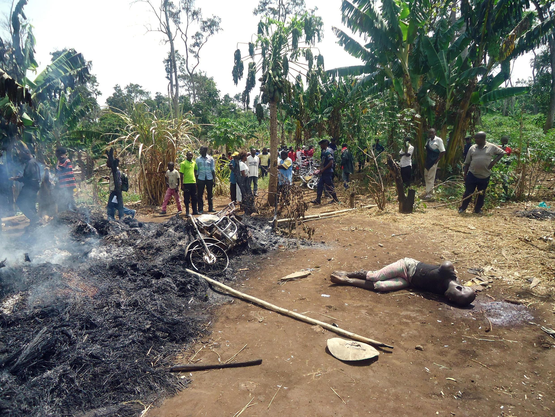Une victime de l'attaque du village de Kiddie, à une douzaine de kilomètres de Beni, le 4 février 2015.