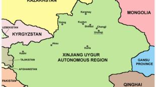 存档图片:新疆地图