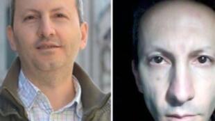 تصویر دکتر احمدرضا جلالی، پیش از دستگیری (سمت چپ) و تصویر تازهای از او پس از دو سال حبس.