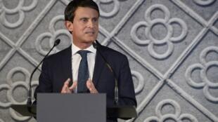 Manuel Valls anuncia su candidatura a la alcaldía de Barcelona, el 25 de septiembre 2018.