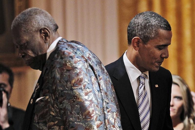 بی بی کینگ، هنگام اجرای کنسرت در کاخ سفید