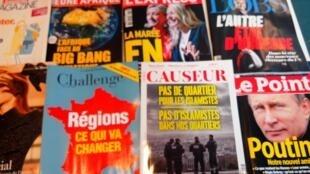 Capas dos semanários e magazines franceses de 5/12/15