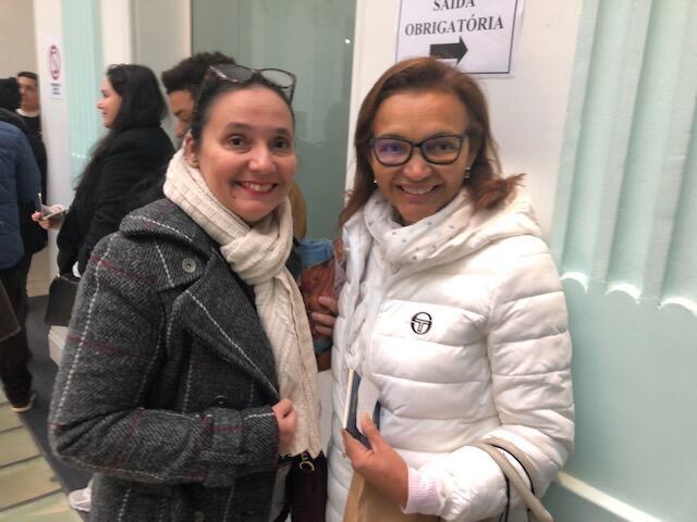 As eleitoras brasileiras Luiza Gadelha (à esquerda) e Aracele Alves.