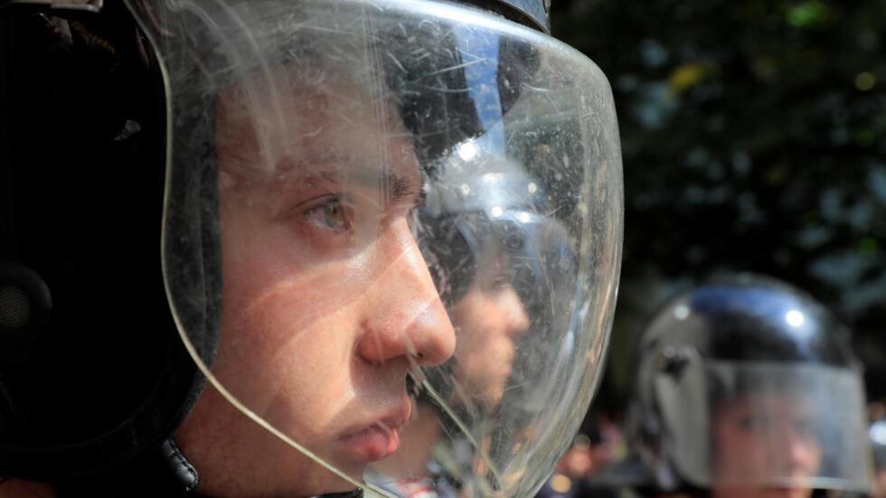 Сотрудники полиции на Тверской