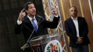 Venezuela : Lãnh đạo đối lập Juan Guaido trong cuộc mít tinh ngày 16/05/2019 tại Caracas.