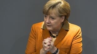 La chancelière allemande Angela Merkel, lors de la session du Bundestag, le 18 octobre 2012.