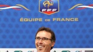 Le sélectionneur de l'équipe de France de football, Laurent Blanc.