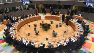 Les dirigeants européens au sommet de Bruxelles le 17 octobre 2018.