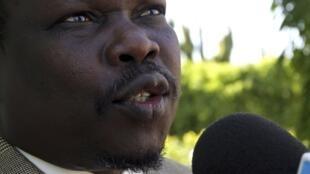 Le secrétaire général du Mouvement de libération du peuple du Soudan (SPLM), Pagan Amum, à Khartoum, le 13 décembre 2009.