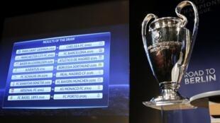 A grelha dos oitavos-de-final da Liga dos Campeões 2014/2015