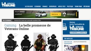 Capture d'écran du site La Tribune Afrique.