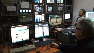 Un studio de la chaine Souspilné média en Ukraine (capture d'écran).