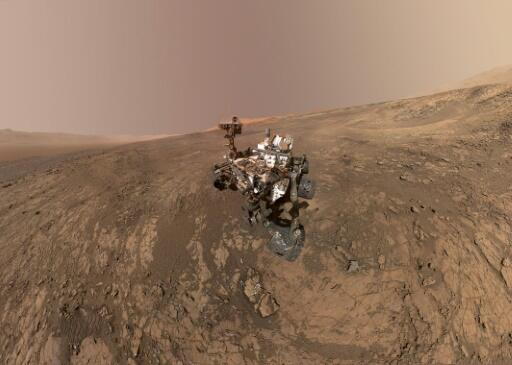 NASA's Curiosity Mars rover, pictured on Mars' Vera Rubin Ridge in a self-portrait obtained on February 4, 2018, landed on the planet in 2012