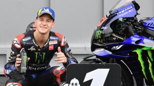 In the fast lane: Fabio Quartararo enjoyed qualifying quickest for the Italian MotoGP