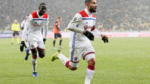 Nabil Fekir (right) scored the goal that took Lyon into the knockout stages of the Uefa Champions League.