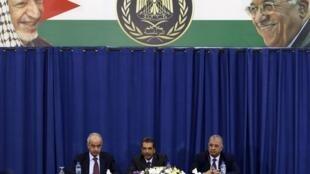Coletiva de imprensa em Ramalá, na Cisjordânia, sobre os resultados que apontam envenenamento de Arafat.
