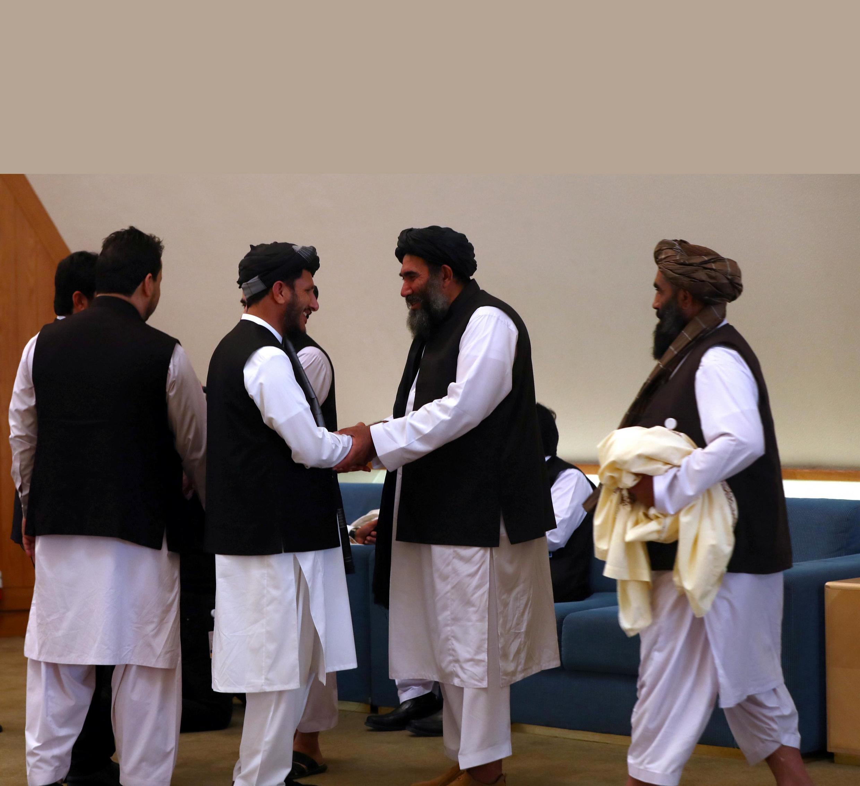 Shugabannin kungiyar Taliban lakacin da suka taro gabanin tattaunawar su da Amurka