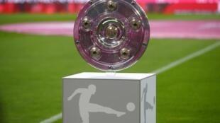 Trophée du championnat d'Allemagne, la Bundesliga. Photo datée du 16 août 2019.