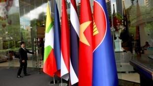 東盟峰會成員國國旗  2019年6月19日