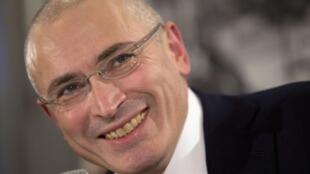 Mikhaïl Khodorkovski, le 22 décembre, à Berlin.