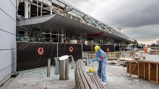 Brussles airport after the attacks last month