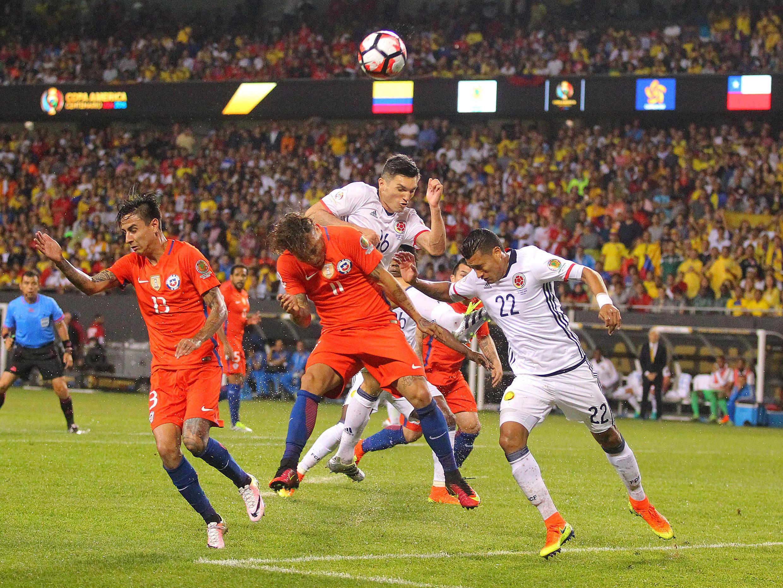 Lors du match de la Copa America où se sont opposés le Chili et la Colombie, le 22 juin 2016.