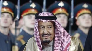 El rey Salman de Arabia Saudita llegó a Rusia el 4 de octubre de 2017.