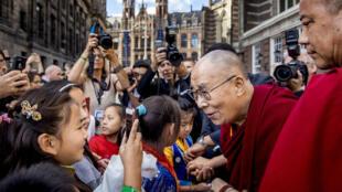Le Dalaï lama, chef spirituel des bouddhistes tibétains, à Amsterdam le 15 septembre 2018.