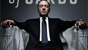 Cartaz da série House of Cards, o carro-chefe do Netflix que chega à França em 15 de setembro de 2014.