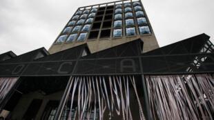 Le musée Zeitz Mocaa (Museum of Contemporary African Art) au Cap lors de l'ouverture.
