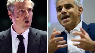Zac Goldsmith (esquerda) e Sadiq Khan : um dos dois será o futuro edil de Londres