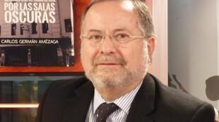 Carlos Amézaga en los estudiso de RFI