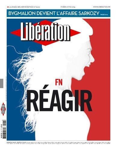 Portada del diario Libération tras el auge de la extrema derecha en las elecciones regionales de 2014.