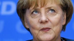 La chancelière allemande Angela Merkel, à Berlin le 23 septembre 2013.