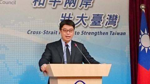 台灣陸委會發言人邱垂正資料圖片