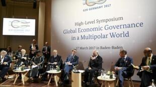 Os ministros das finanças dos países do G20 em Baden Baden
