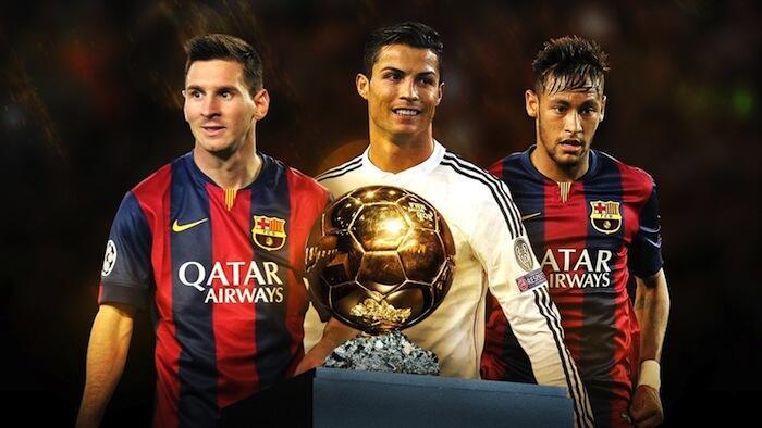 Messi, Ronaldo na Neyma