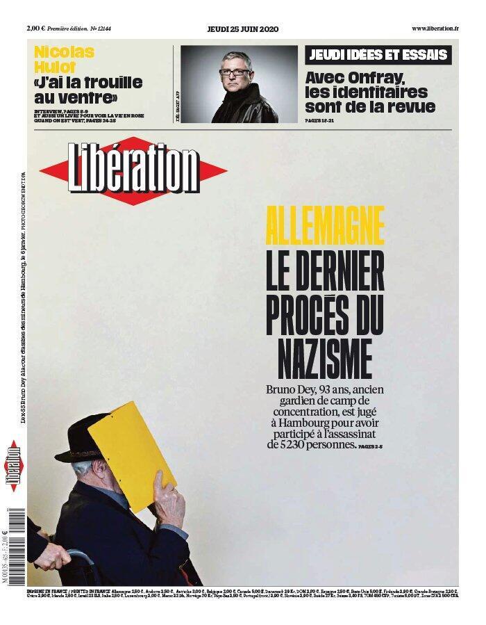 Na resenha da imprensa, o jornal Libération traz na sua reportagem de capa o julgamento que pode ser uma das últimas reviravoltas judiciais contra o Nazismo alemão.