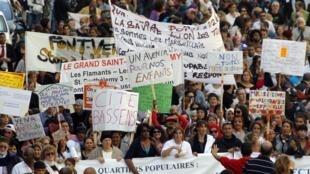 Des manifestants à Marseille, ce samedi 1er juin.