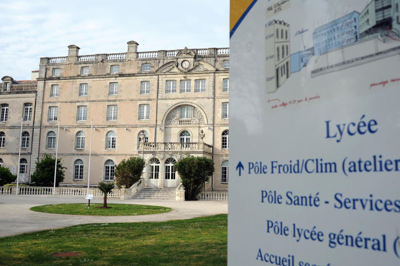 The Lycée Fénélon Notre-Dame in La Rochelle where the rape took place