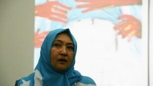 哈薩克共和國的維吾爾裔女子古力巴哈