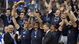 A equipe francesa de Rugby