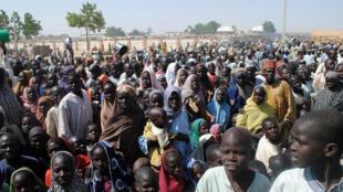 Wasu daga cikin 'yan gudun hijirar da suka tsere daga gidajensu saboda rikicin Boko Haram