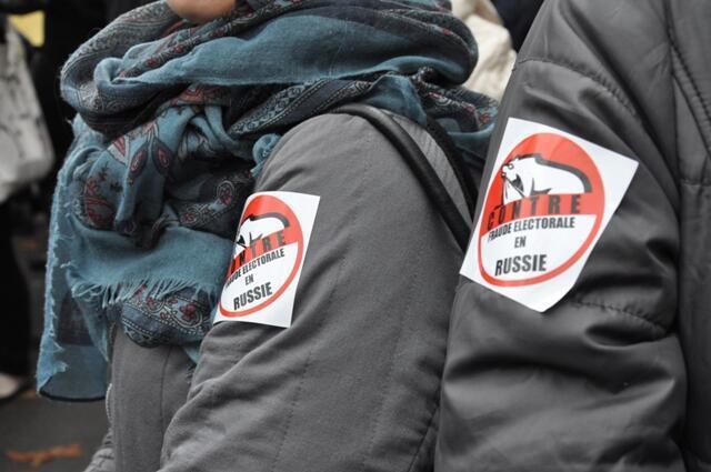 """Акция """"За честные выборы"""", Париж, 8 декабря 2011"""