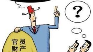 图为中国网络刊登官员财产公开难幽默讽刺画