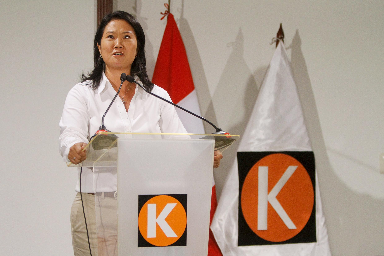 Keiko Fujimori, del partido Fuerza Popular.