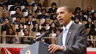 Discours du président américain Barack Obama à Tokyo le 14 novembre 2009.