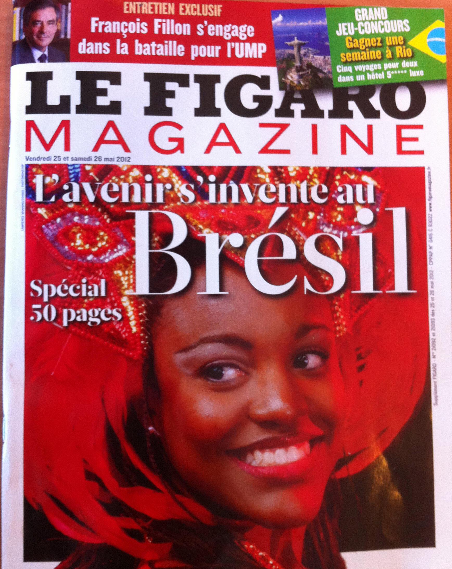 Capa da revista Le Figaro Magazine com edição especial dedicada ao Brasil.