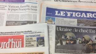 Primeiras páginas diários franceses 20/2/2014