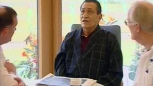 Egyptian president, Hosni Mubarak